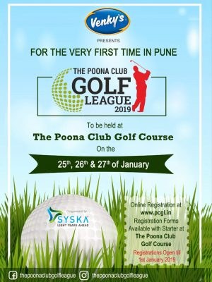 THE POONA CLUB GOLF LEAGUE 2019