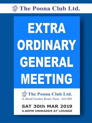 EXTRA ORDINARY GENERAL MEETING – MAR 2019