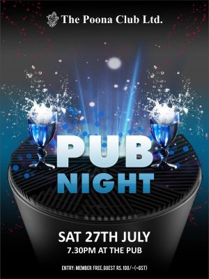 PUB NIGHT – JULY 2019
