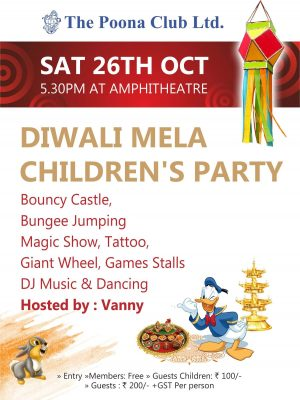 DIWALI MELA CHILDRENS PARTY – OCT 2019