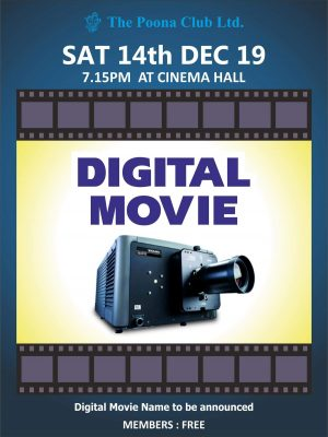 DIGITAL MOVIE – 14TH DEC 2019