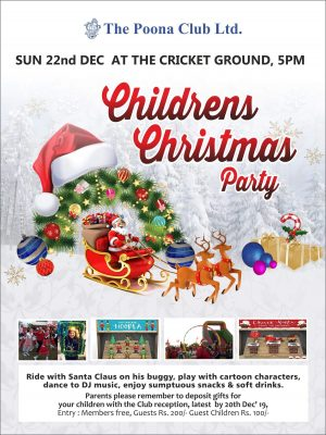 CHILDREN'S CHRISTMAS PARTY – 22ND DEC 2019
