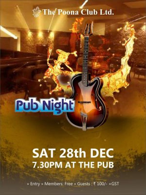 PUB NIGHT – 28TH DEC 2019