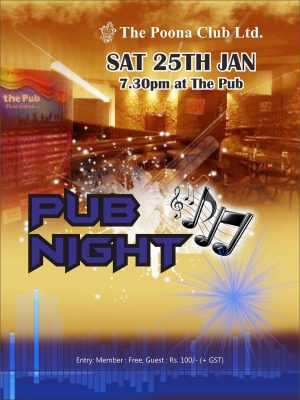 PUB NIGHT – 25TH JAN 2020